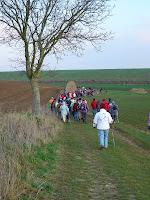 Rando pédestre organisée par l'association ARCA (Association des Randonneurs des Chemins de l'Ailette