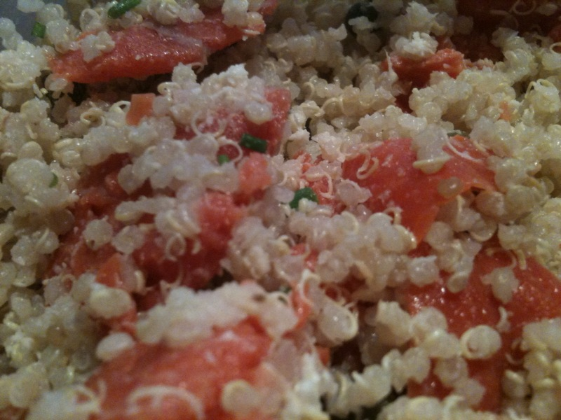 Bull City Food: Smoked Salmon Quinoa Salad