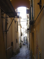 Typical street in Salerno