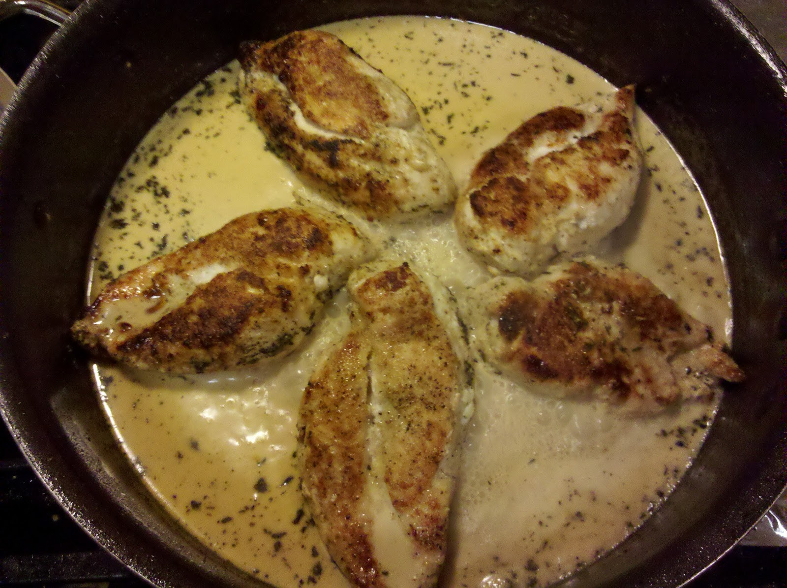 chicken breast, or enough to feed your family, or fish even