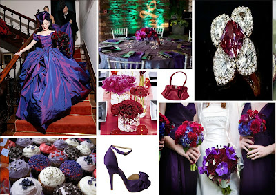 Revelry Invitation Studio Chatter Red And Purple Wedding Inspiration Board