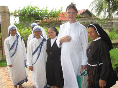With Sister Antonieta, center, Missionaries of Charity and Sr Reinalda