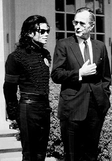 Michael Jackson and George Bush Sr