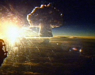 the Tsar Bomba's massive fireball