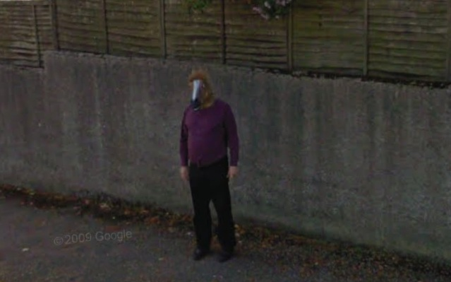 google maps horse head. Horse Head Man Spotted On Googlemaps. View Here via Richard March From
