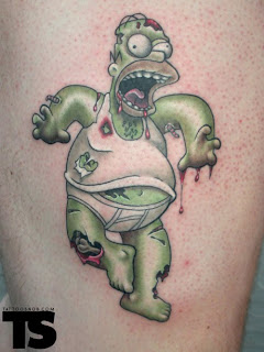 homer tattoo, tattooing
