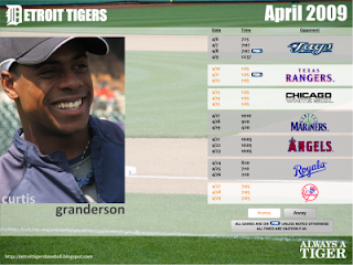 Monthly Tiger Schedule Wallpaper April2009-400x300