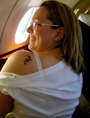 And here is my other sister-in-law, with basically the same tattoo design