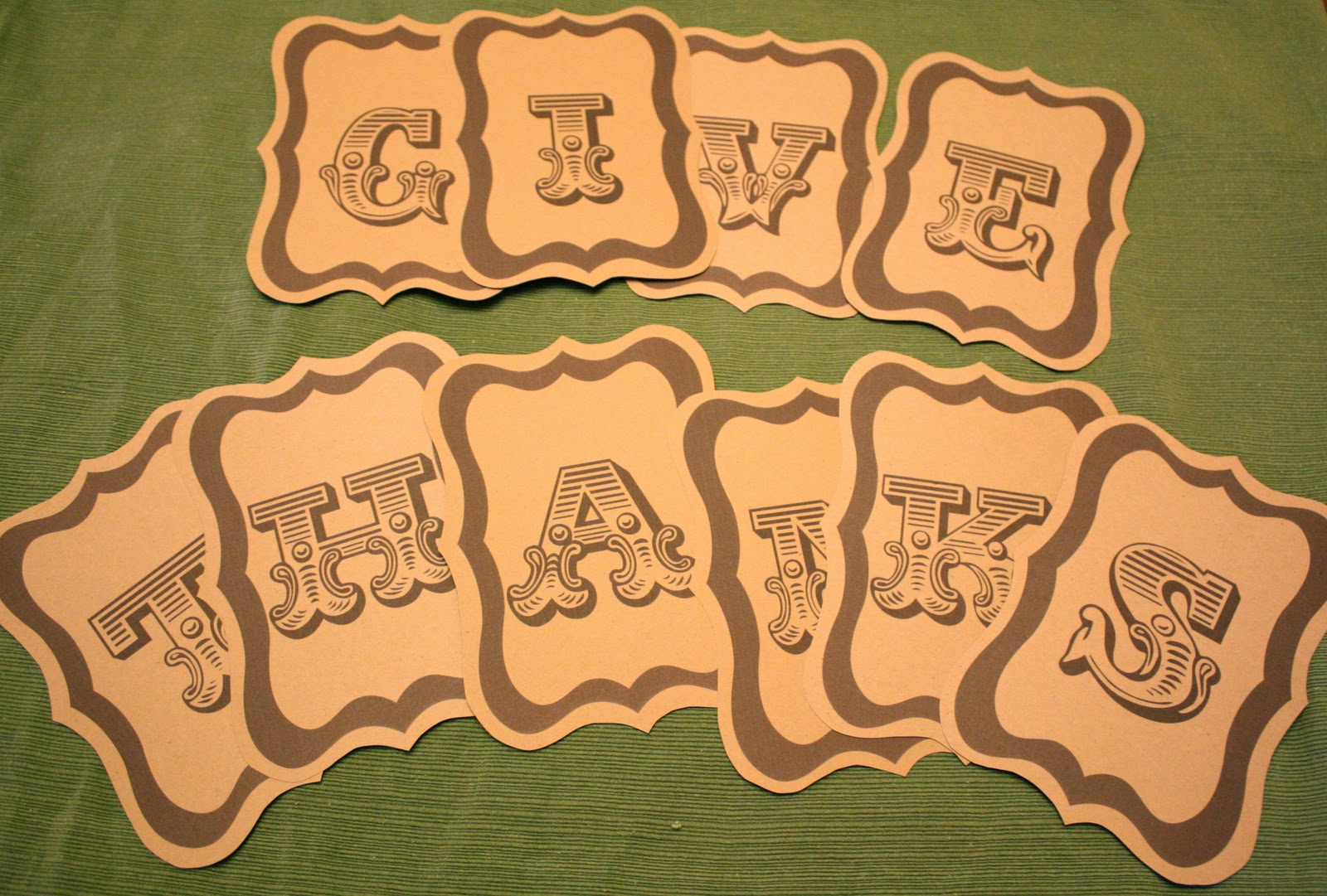 It is a photo of Crafty Give Thanks Banner Printable
