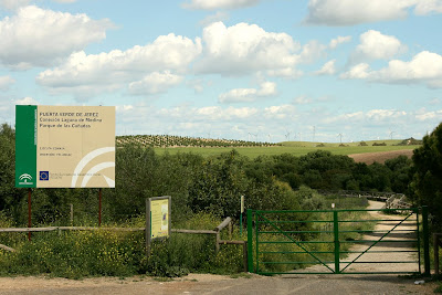 Carteles indicadores de la 'Puerta Verde de Jerez
