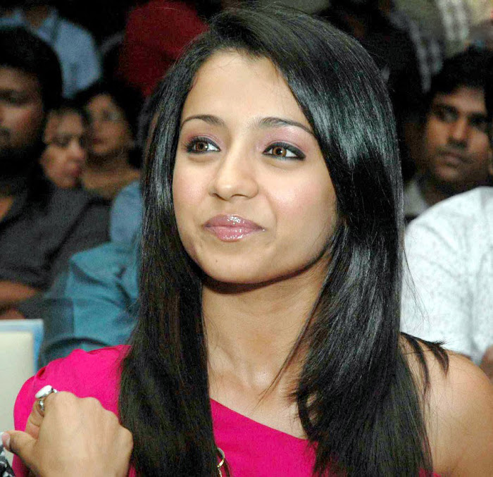trisha spotted in pink at a event