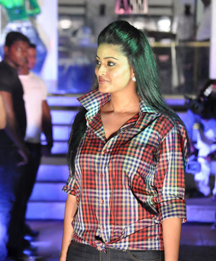 Sneha Models a Checks shirt and Denim Jeans Spicy Pictures