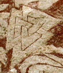 Valknut, estela de Hammar I
