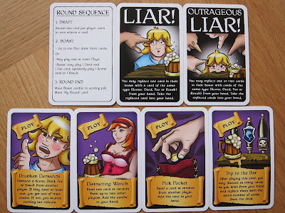 Various Braggart Cards, including the 2 Liar and 4 Ploy card types