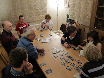 Two games in progress - Dominion and Citadels