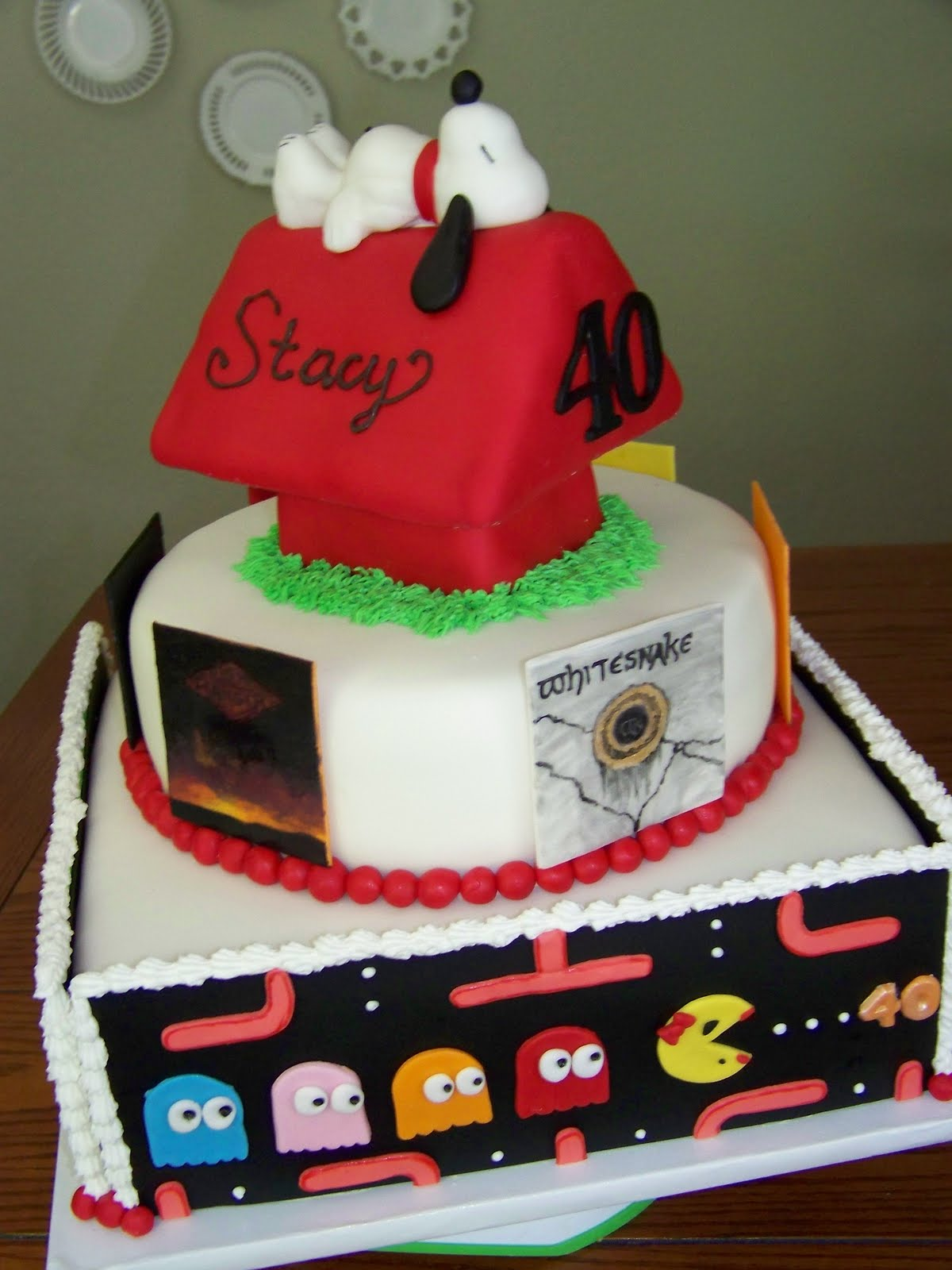 Plumeria Cake Studio 80s Birthday Party Snoopy Cake