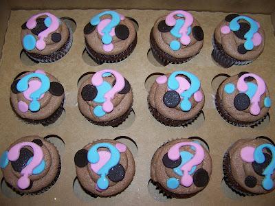 Plumeria Cake Studio Pink Or Blue Baby Shower Cupcakes