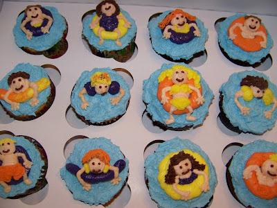 Plumeria cake studio pool party cupcakes pool party cupcakes sciox Choice Image
