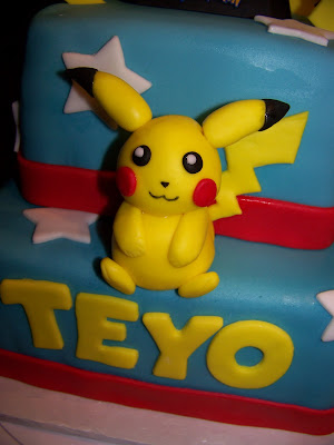 Pikachu Cake Yellow Stacked