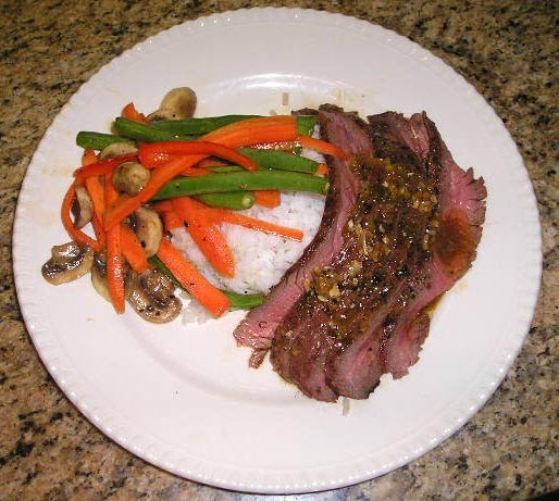 ... for the Palette: Grilled Flank Steak with Soy-Lime-Ginger marinade
