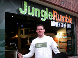 Jungle Rumble Adventure Golf at Cabot Circus in Bristol