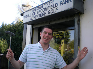 Adventure Golf course at Broomfield Park in London
