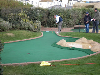Richard Gottfried at the 2008 Castle Golf World Crazy Golf Championships in Hastings