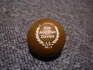 The Tim 'Ace Man' Davies Legends Minigolf sport ball