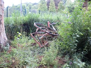 The remnants of a Minigolf course in Pontypool Park / Parc Pont-y-pŵl