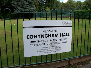 Miniature Golf courses and Games in Parks at Conyngham Hall Grounds in Knaresborough