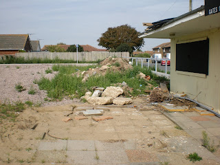 The derelict Arnold Palmer Crazy Golf site in Camber Sands