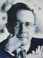 Retrato Dr. Alvaro Uribe Velez Presidente de Colombia