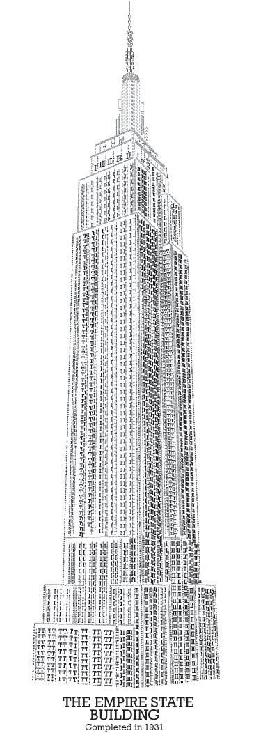 Empire state building illustration