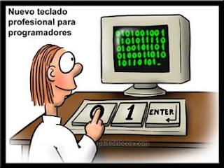 teclado para programadores coas teclas 0 1 e enter