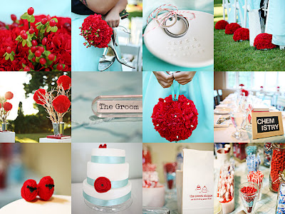 And then I saw a totally cute Aqua Red wedding which I adore and had some