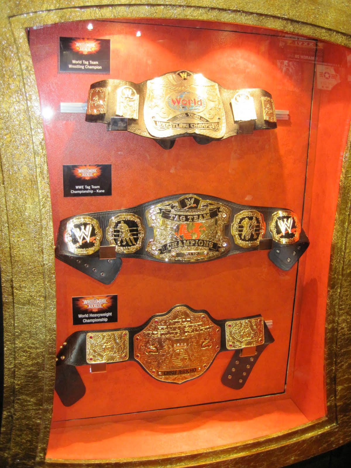 Old championship belts on