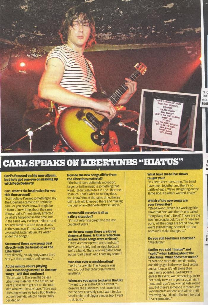 nme front cover. the NME front cover and