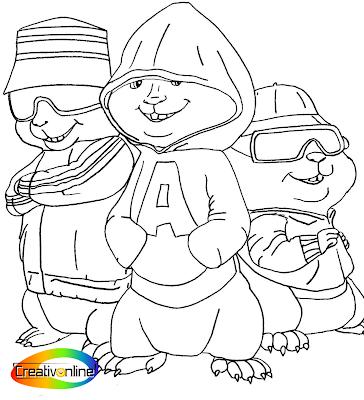 Colorea a Alvin y Las Ardillas