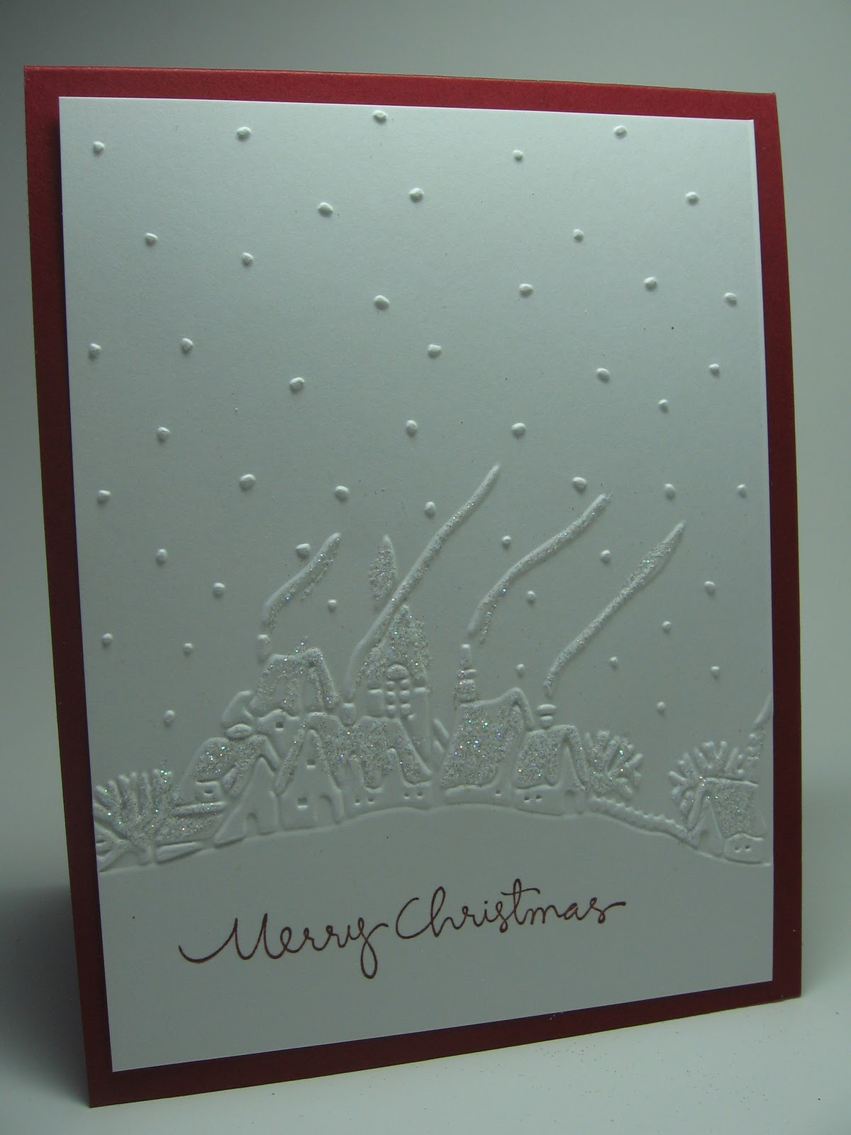 stamping up north with laurie: Embossed Christmas cards