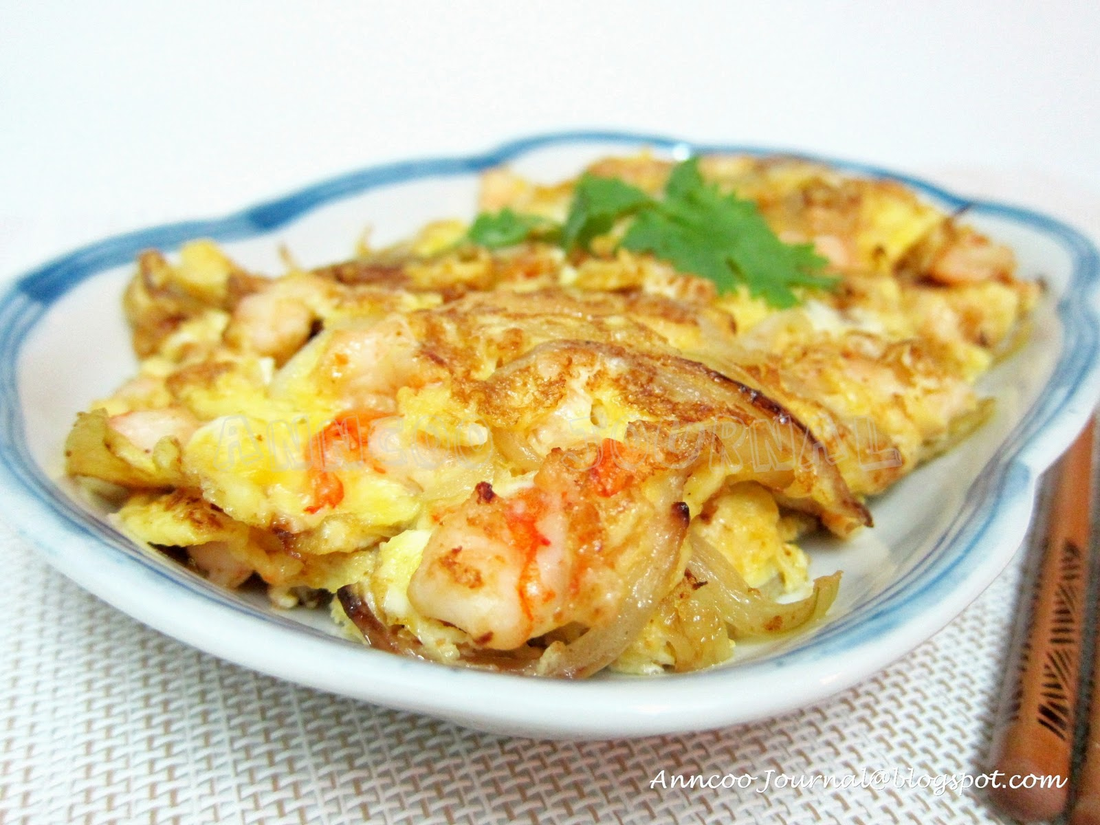 prawns omelette anncoo journal