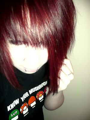 emo scene hairstyles for girls. red hairstyle for girls