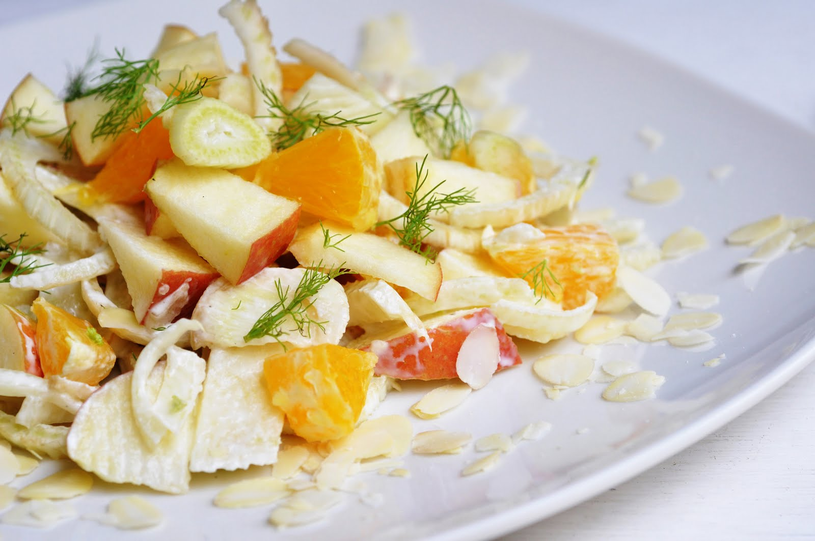 Fennel Salad with Apples and Oranges