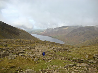 wastwater from Scafell Pike on the national 3 peaks