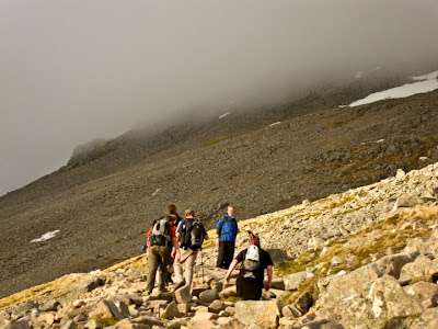 heading into ben nevis cloud