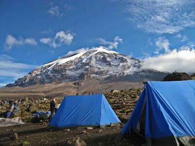 Kilimanjaro from camp