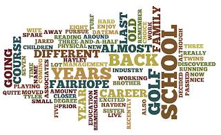 A Wordle based on a short paragraph about Jared Datema