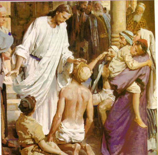 JESUS LLEVO NUESTRAS ENFERMEDADES Fotojesussanador
