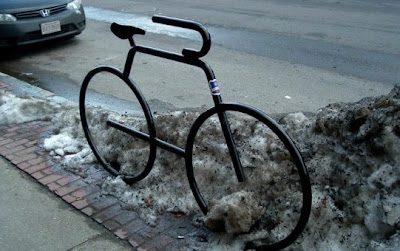 Image of bike rack in Brookline, Massachusetts