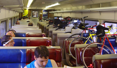 Bicycles on the Metro-North train car
