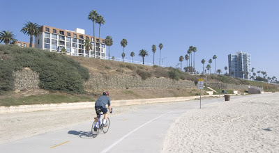 Image of beach bike path in Long Beach, California